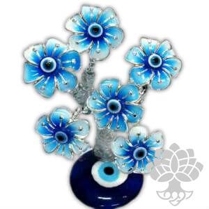 Árvore da Fortuna - 6 Flores Azuis