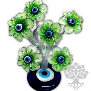 Arvore da Fortuna - 6 Flores Verdes