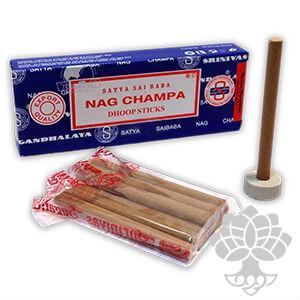 Incenso em barras Nag Champa (Dhoop Stick)