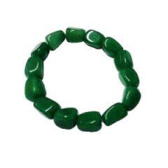 Pulseira com pedras de quartzo verde