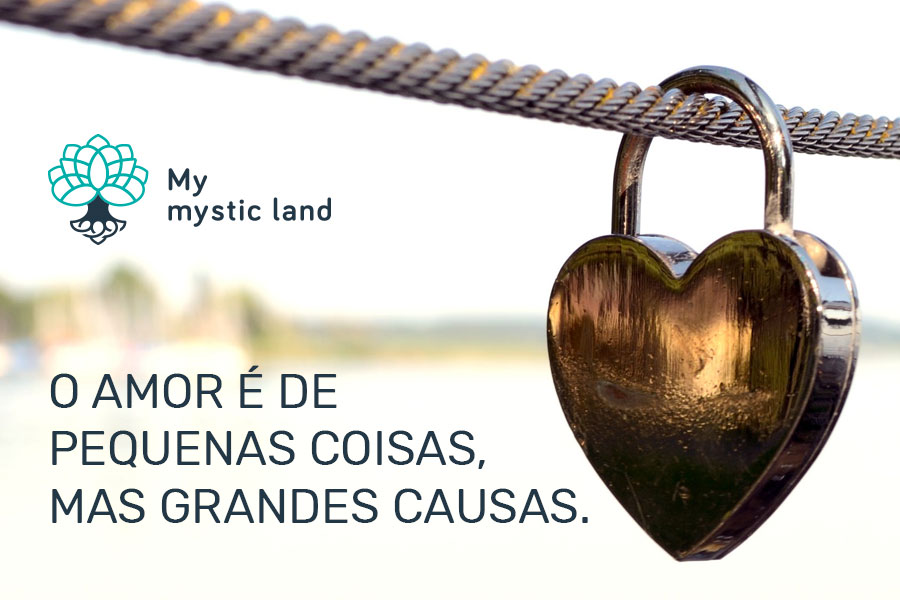 O amor é de pequenas coisas, mas grandes causas.
