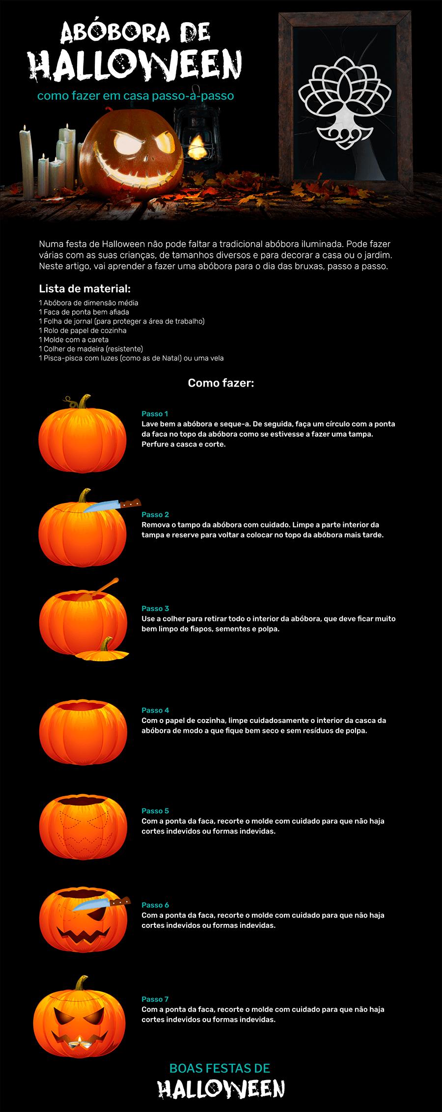 abobora de halloween como fazer